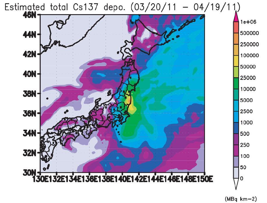April Fukushima Radiation And Fallout Projections - Japan radiation map 2014