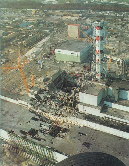 Chernobyl Nuclear Power Plant  Pripyat  Ukraine  April